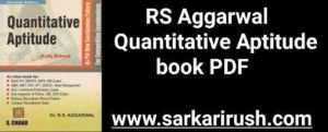 Quantitative Aptitude book by RS Aggarwal download pdf