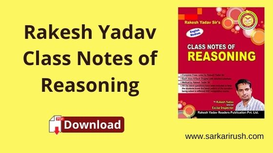 Rakesh yadav class notes reasoning pdf